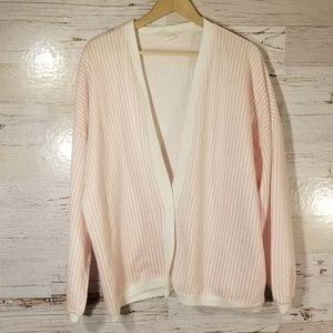 Vintage stripe sweatshirt cardigan